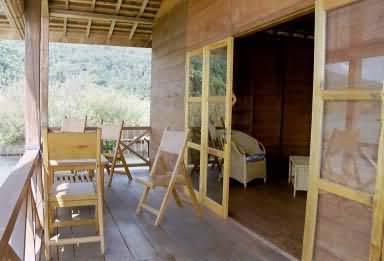 Bungalow verandah of a holiday cottage