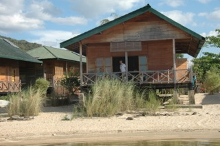 One of the eight Tandobone bungalows at Lake Poso